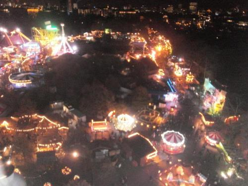 View from the observation wheel in Winter Wonderland, Hyde Park