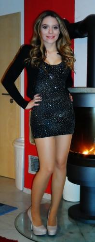 Dress Option : A sparkly, glittery black mini dress