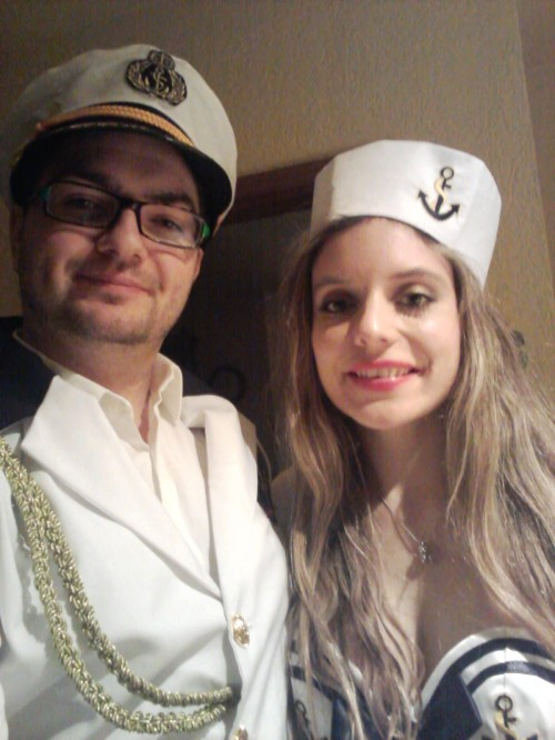 My boyfriend and me as sailors