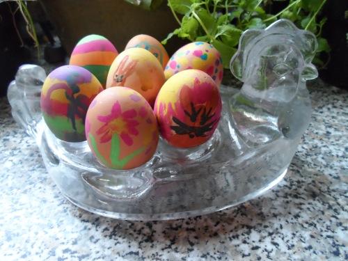 self painted eggs