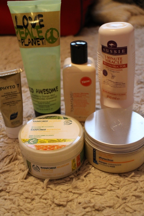 Hair products for under the shower